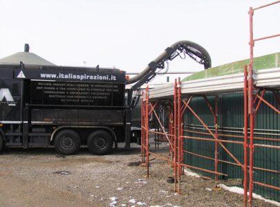 Pulizia e aspirazione impianto biogas